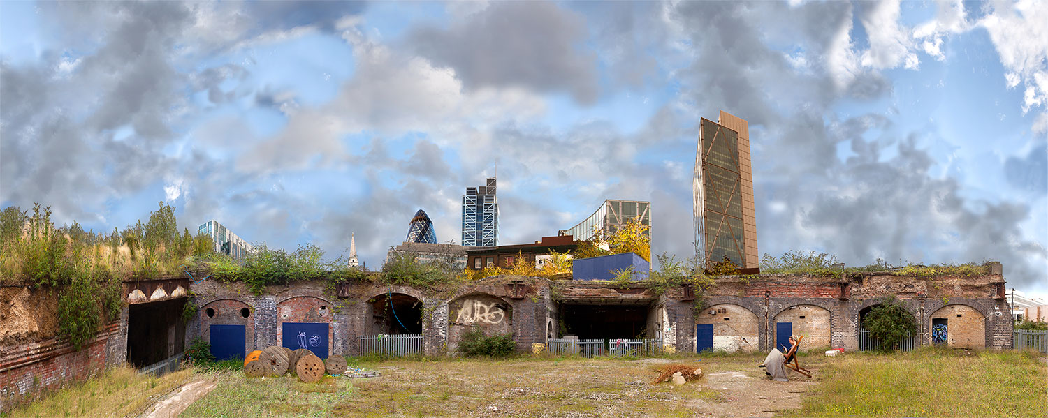 """"""" East meets west """" 140x56cms edition of 10. Imagined place by architectural photographer Nicholas Gentilli"""