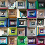 """"""" Kaleidoscope """" 114x75cms . Imagined place by architectural photographer Nicholas Gentilli"""
