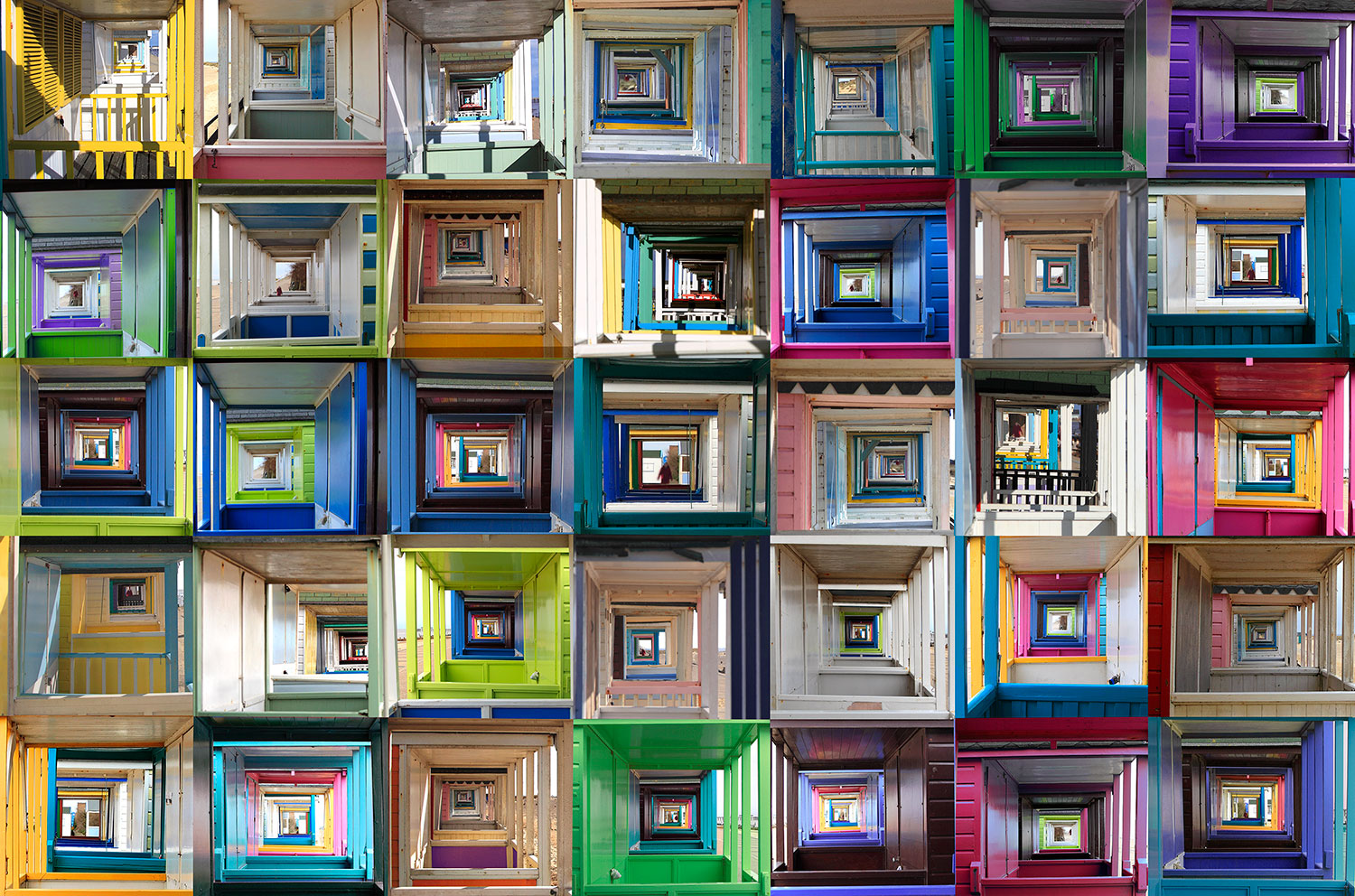 """ Kaleidoscope "" 114x75cms . Imagined place by architectural photographer Nicholas Gentilli"