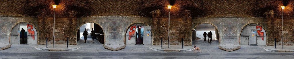 """"""" One door opens """" 200x41cms & 124x26cms edition of 10. Imagined place by architectural photographer Nicholas Gentilli"""