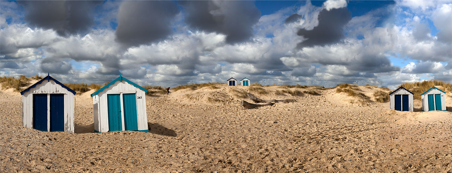 """ Beach huts "" "" 150x57cms edition of 10 .Imagined place by architectural photographer Nicholas Gentilli"