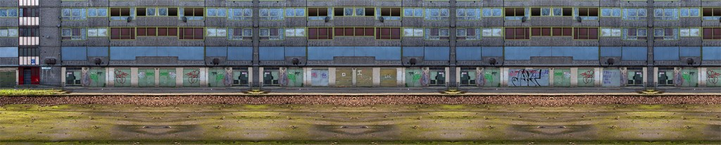 """ Next door's garage "" 200x39cms & 124x25cms edition of 10 . Imagined place by architectural photographer Nicholas Gentilli"