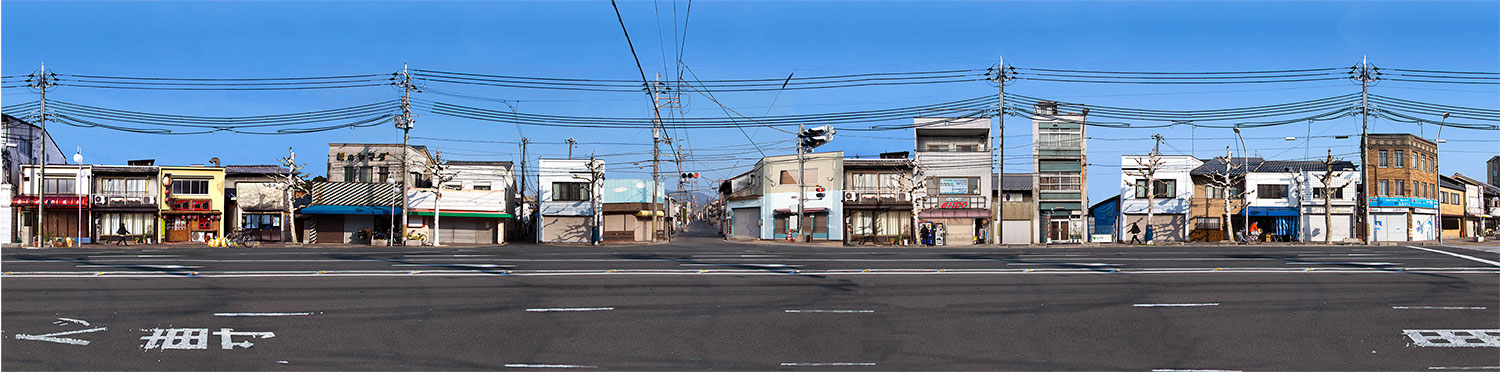 """"""" Cardboard fusion : Kyoto, Japan """" 187x45cms edition of 10.Imagined place by architectural photographer Nicholas Gentilli"""
